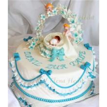 СМ 173 Торт для младенца с ангелочками