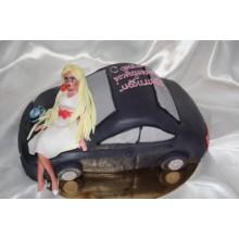 РМ 900 Торт блондинка на машине