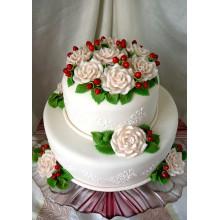 РМ 909 Торт с прекрасные цветы