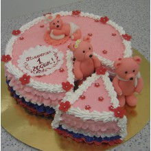 СМ 72 Торт детский с милимы мишками