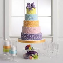 СВ 395 Торт большой нежные цвета
