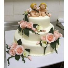 СВ 355 Торт свадебный с ангелочками