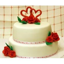 РМ 302 Торт свадебный с сердечками
