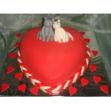 РМ 135 Торт влюбленные кошки