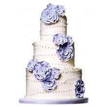 СВ 587 Торт свадебный белый с фиолетовым