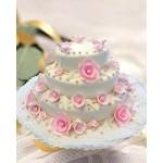 СВ 20 Торт свадебный классический бело-розовый