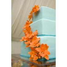 СВ 808 Торт свадебный голубой