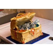 Пр 411 Торт сундук с деньгами