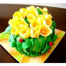 РМ 324 Торт на 8ое марта желтые тюльпаны