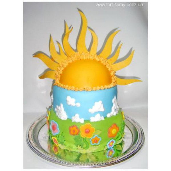 Солнышко из мастики на торт