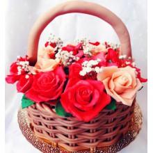 РМ 55 Торт на 8ое марта корзина с розами