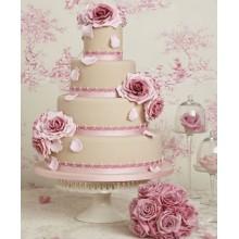 БСВ 559 Торт свадебный розовые розы