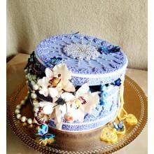 РМ 444 торт подарок с цветами
