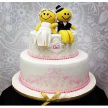 СВ 137 Торт свадебный смайлики
