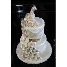 БСВ 555 Торт свадебный с павлином