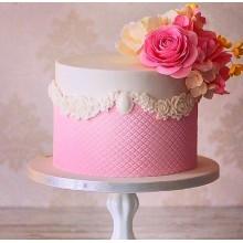 РМ 221 Торт нежный розовый с цветами