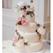 БСВ 59 Торт свадебный нежный много цветов