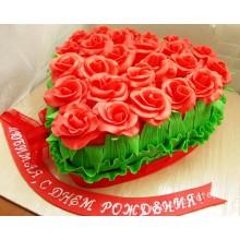 РМ 11 Торт на 8ое марта сердце в цветах