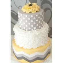 СВ 858 Торт свадебный модный