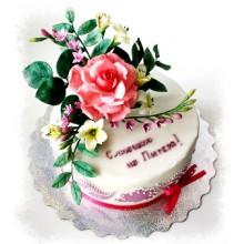 РМ 853 Торт с прекрасной розой на 8-ое марта