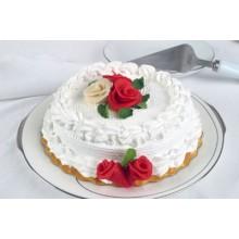 ПР 222 Торт с красными цветами