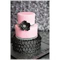 БСВ 0113 Торт розовый с черным на свадьбу или для девушек