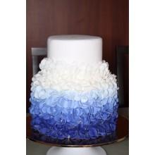БСВ 887 Торт свадебный синее омбре