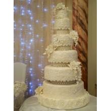 БСВ 003 Торт свадебный белый