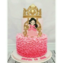 ДТ 2139 Торт миленькая принцесса