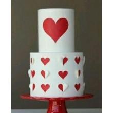 СВ 002 Торт с красными сердечками