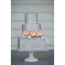 БСВ 1478 Торт свадебный благородно-серый