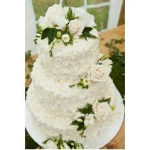 БСВ 178 Торт свадебный с живыми розами