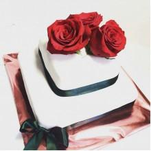 СВ 555 Торт свадебный с живыми розвми