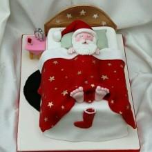 НТ 2 Торт новогодний санта спит
