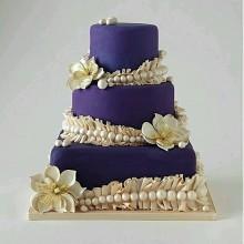 БСВ 845 Торт свадебный фиолетовый