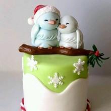 НТ 1 Торт новогодний птички мерзнут