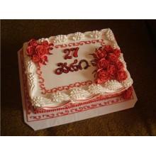 ПР220 Белый торт с розами