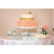 СВ 11 Торт свадебный нежно-кораловый