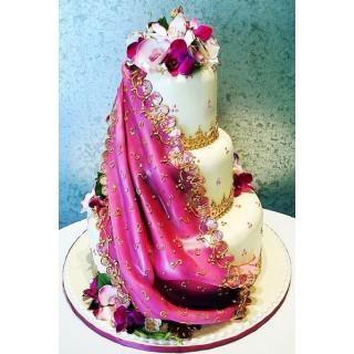 БСВ 413 торт свадебный в индийском стиле