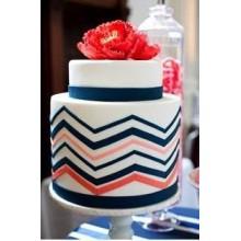 РМ 547 Торт свадебный кораловый