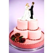 СВ 008 Торт свадебный с фигурками