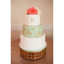 СВ 44 Торт свадебный нежные цветы