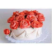 РМ 81 Торт кораловые розы