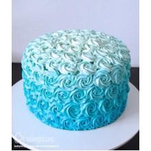 РМ 887 Торт голубое амбре из роз