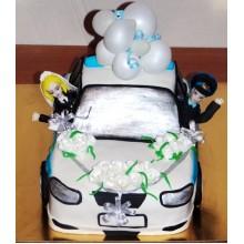 СВ 955 Торт свадебная машина жениха и невесты