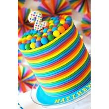 ПР 33 Торт разноцветное настроение