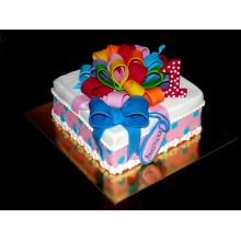 ДТ 224 Торт с разноцветным большим бантом