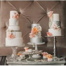 БСВ 777 Торты свадебные серебристые