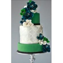 БСВ 779 Торт свадебный изумрудный