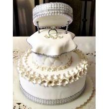 СВ 021 Торт свадебный роскошный с кольцом